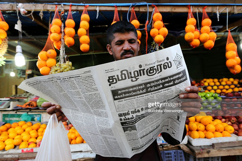 Ex-Tamil Rebel Carders In Election Campaign : News Photo