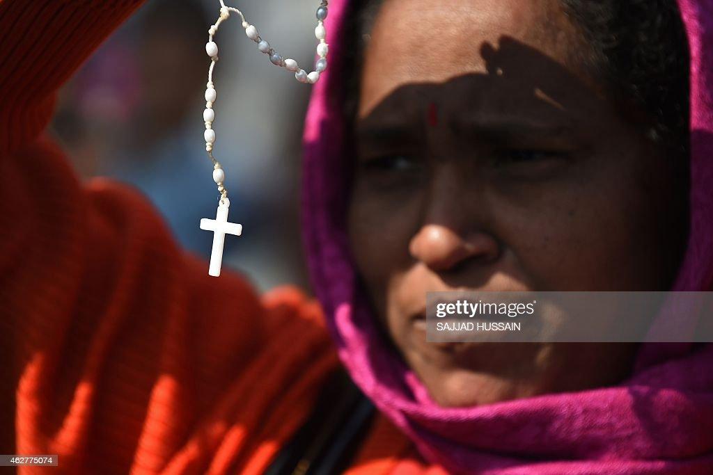 INDIA-RELIGION-CHURCH-CRIME : News Photo