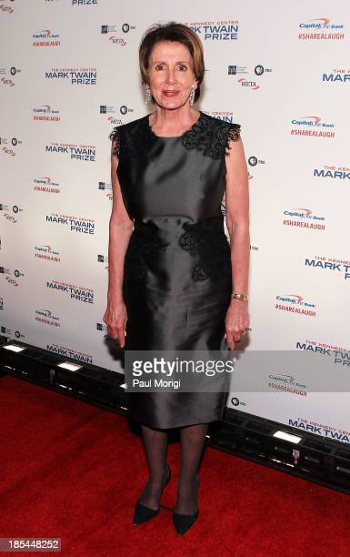 Minority Leader of the United States House of Representatives Nancy Pelosi attends The 16th Annual Mark Twain Prize For American Humor at John F...