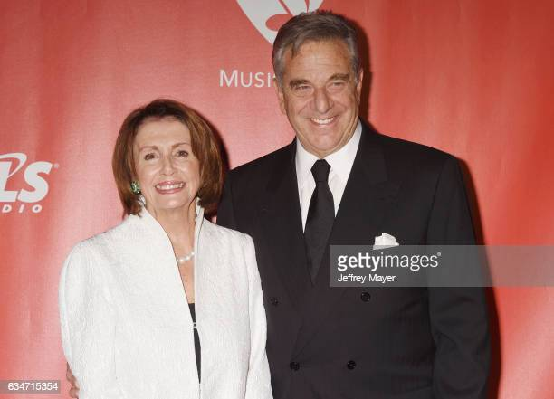 Minority Leader of the United States House of Representatives Nancy Pelosi and husband Paul Pelosi attend MusiCares Person of the Year honoring Tom...