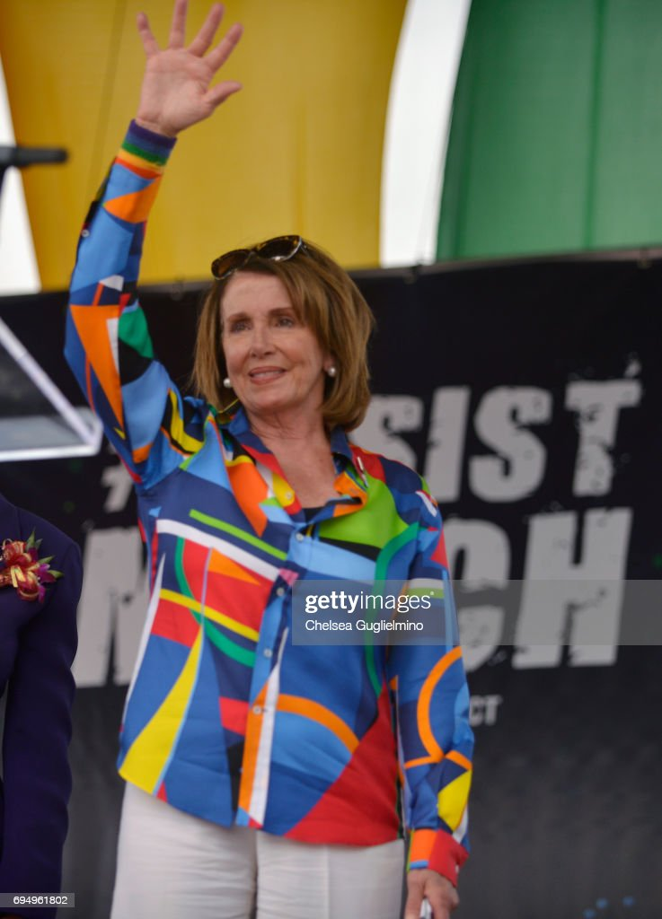 Minority Leader of the United States House of Representatives Nancy Pelosi attends the LA Pride ResistMarch on June 11, 2017 in West Hollywood, California.