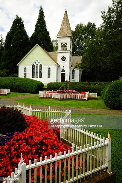 minoru chapel and the garden - richmond british columbia stock photos and pictures