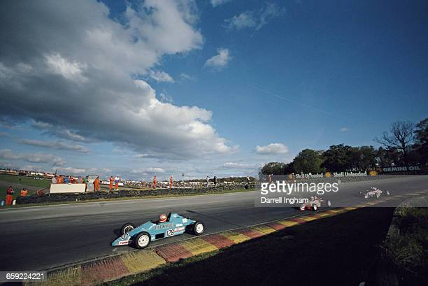 Minoru Tanaka of Japan drives the Leyton House Racing Van Dieman RF88 Minister during the Data Cartel Formula Ford 1600 Festival race on 30 October...