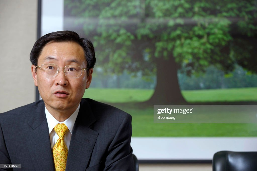 Minoru Usui, president of Seiko Epson Corp., speaks during an interview in Tokyo, Japan, on Tuesday, June 1, 2010. Seiko Epson Corp.'s printer-maker rivals may raise their prices in Europe later this year as the weaker euro starts to erode earnings, Usui said. Photographer: Akio Kon/Bloomberg via Getty Images