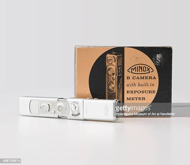 Minox B Camera and accessories by Russian manufacturer Walter Zapp / Minox GmbH 1958 Gift of Judith F Grimes