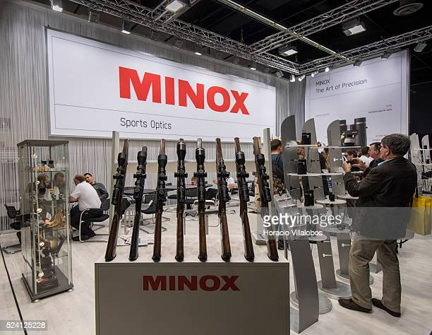 Minox stand in Photokina 2014 in Cologne Germany 18 September 2014 Photokina the world's leading imaging fair brings together the industry trade...