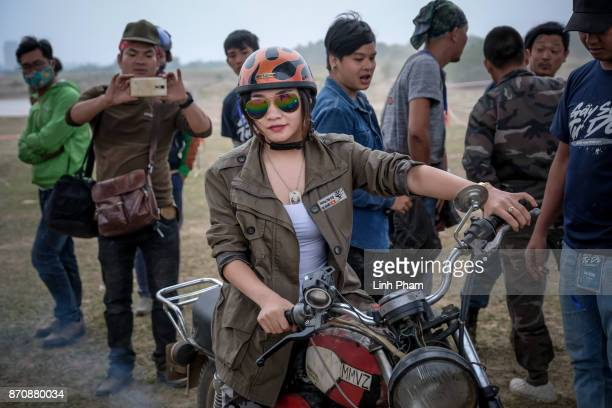 Minsk enthusiasts mostly from northern Vietnam gather for a Minks offroad tournament on November 5 2017 in Hanoi Vietnam A new generation of...