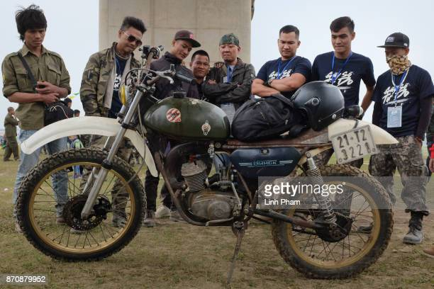 Minsk motorcycles showcase at the gathering of hundreds of Minsk enthusiasts on November 5 2017 in Hanoi Vietnam A new generation of Vietnamese have...