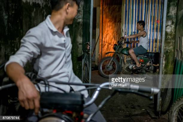 Minsk motorcyclists get their bikes fixed at the repairing store of Pham Ngoc Thach 27 a Minsk motorcycle enthusiast turned into career engineer on...