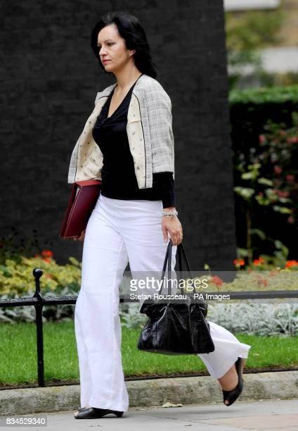Minster for Housing Caroline Flint arrives for a cabinet meeting at Downing Street