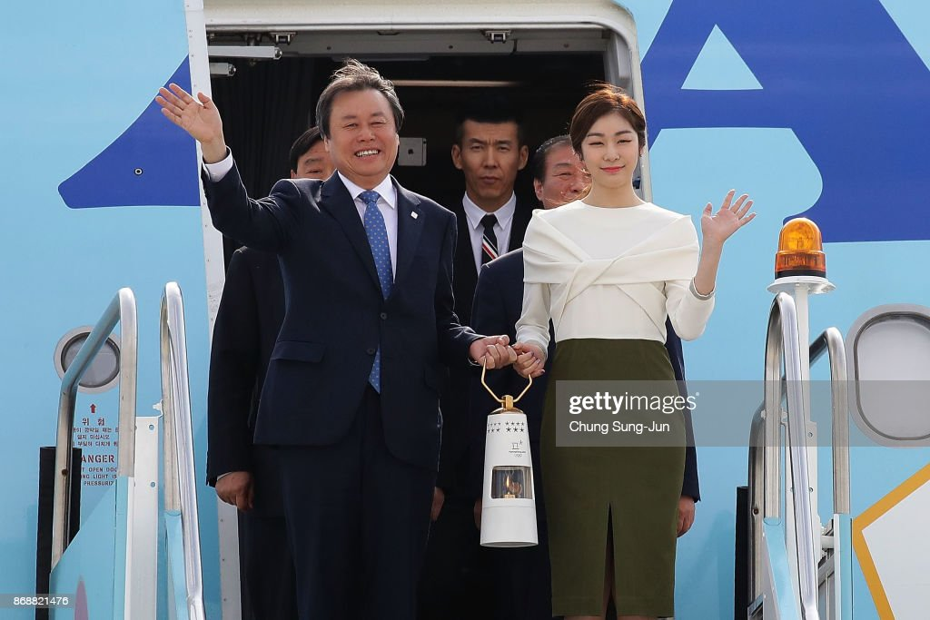 Olympic Flame Arrives South Korea On 100-Days to Go To PyeongChang 2018 Winter Olympics
