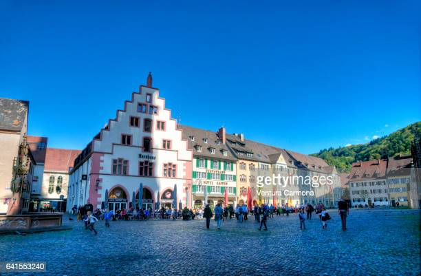 minster square (freiburg im breisgau) germany - minster stock photos and pictures