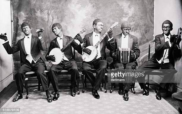 Minstrel group of Edward Le Roy Rice performing At the White House Photograph