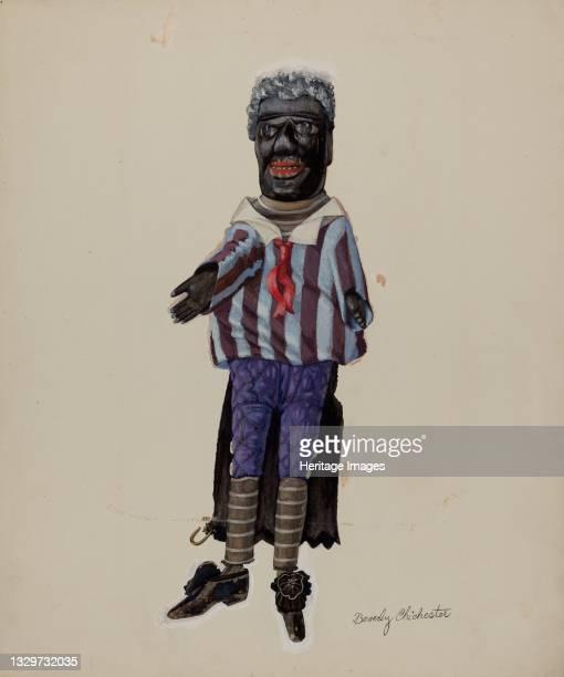 Minstrel Hand Puppet, circa 1936. Artist Beverly Chichester.