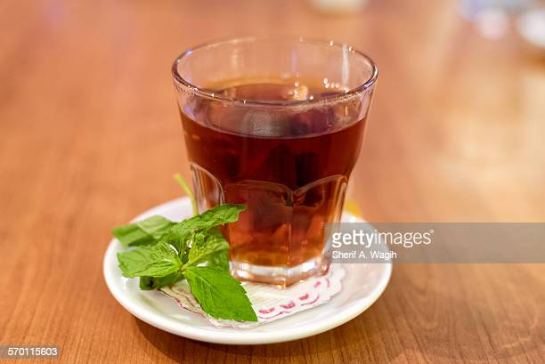 Mint and red tea
