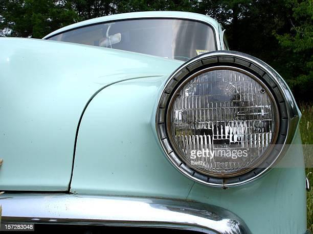 Mint Green Vintage Automobile Headlight