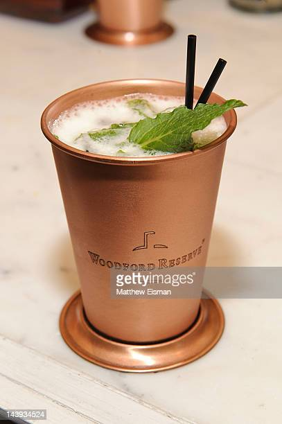 Mint julep drink at the 138th Kentucky Derby celebration at 122 West 26th Street on May 5, 2012 in New York City.
