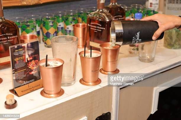 Mint julep drinks are poured at the 138th Kentucky Derby celebration at 122 West 26th Street on May 5 2012 in New York City