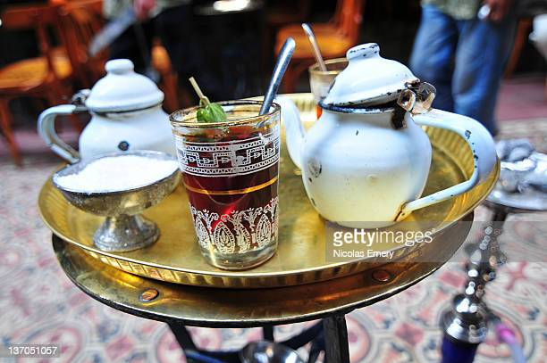mint tea in cairo - emery stock photos and pictures