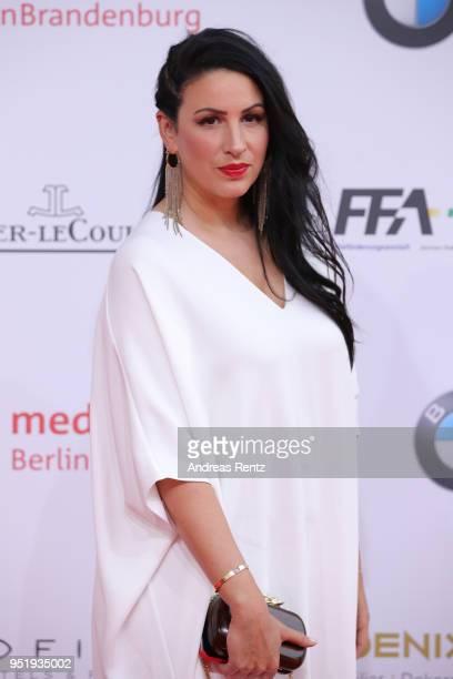 Minu Barati attends the Lola German Film Award red carpet at Messe Berlin on April 27 2018 in Berlin Germany