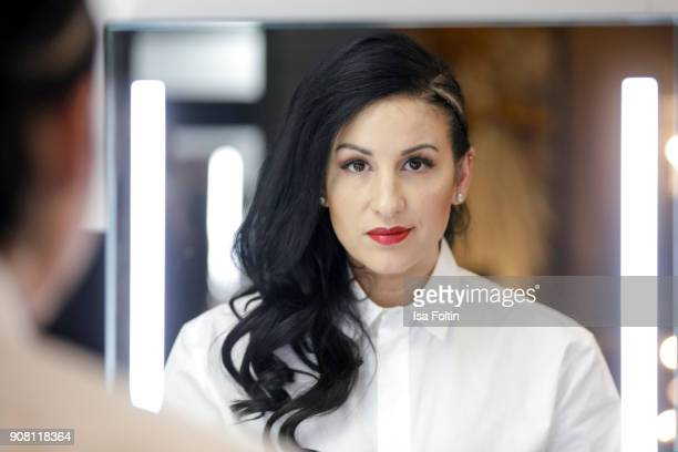 Minu Barati during the Burda Style Lounge on the occasion of the German Film Ball on January 20 2018 in Munich Germany