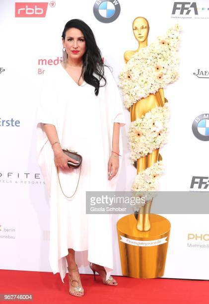 Minu Barati Fischer during the Lola German Film Award red carpet at Messe Berlin on April 27 2018 in Berlin Germany