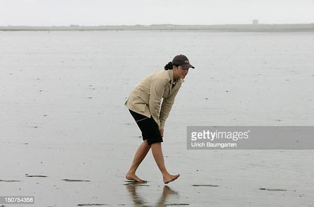Minu BARATI partner from Joschka FISCHER at the SchleswigHolstein North Sea coast near Westerhever