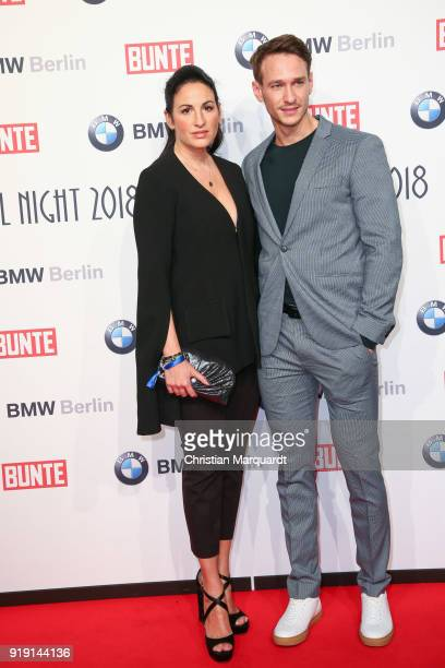 Minu BaratiFischer and partner attends the BUNTE BMW Festival Night on the occasion of the 68th Berlinale International Film Festival Berlin at...