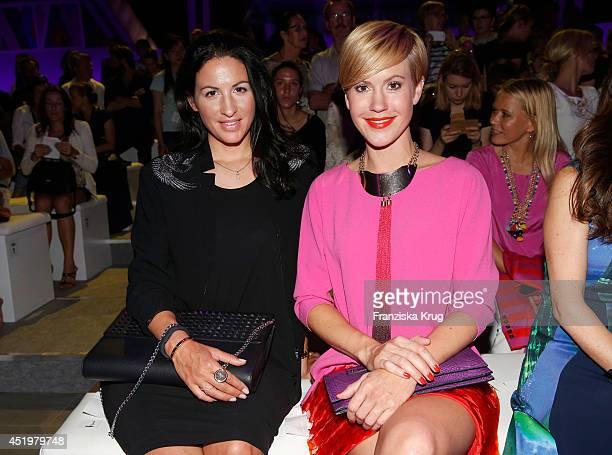 Minu BaratiFischer and Wolke Hegenbarth attend the Laurel show during the MercedesBenz Fashion Week Spring/Summer 2015 at Erika Hess Eisstadion on...