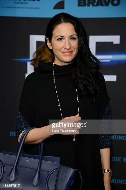 Minu BaratiFischer attends 'Die Bestimmung Divergent' German Premiere at Sony Centre on April 1 2014 in Berlin Germany