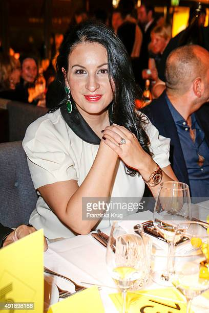 Minu BaratiFischer attends the 5th anniversary celebrations of the GRAZIA magazine at Grill Royal on October 08 2015 in Berlin Germany