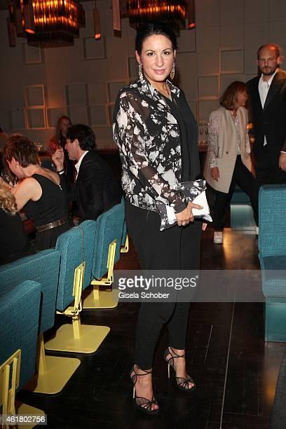 Minu BaratiFischer attends the LaLa Berlin Dinner with Cinderella during the MercedesBenz Fashion Week Berlin Autumn/Winter 2015/16 at Crackers on...