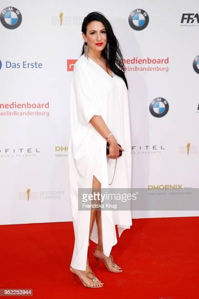 Minu BaratiFischer attends the Lola German Film Award red carpet at Messe Berlin on April 27 2018 in Berlin Germany
