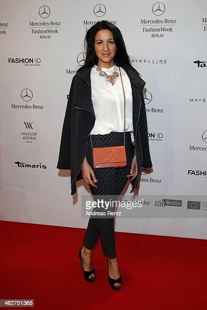 Minu BaratiFischer attends the Minx by Eva Lutz show during MercedesBenz Fashion Week Autumn/Winter 2014/15 at Brandenburg Gate on January 15 2014 in...