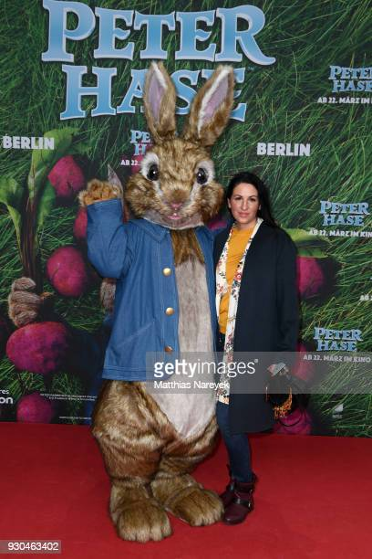 Minu BaratiFischer attends the 'Peter Hase' premiere at Zoo Palast on March 11 2018 in Berlin Germany