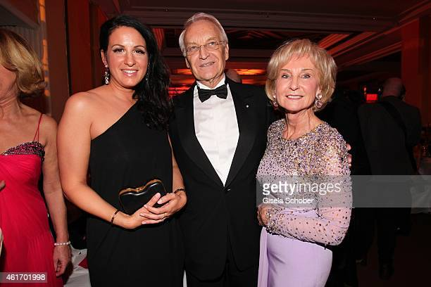 Minu BaratiFischer Edmund Stoiber and his wife Karin Stoiber during the German Filmball 2015 at Hotel Bayerischer Hof on January 17 2015 in Munich...