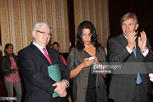 Minu BaratiFischer With Husband Joschka Fischer And Mayor Klaus Wowereit Eim Finale In Good Time magazine cookery competition from Austria at the...