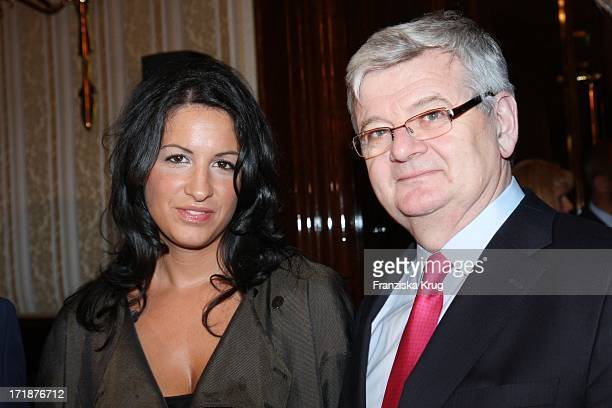 Minu BaratiFischer With Husband Joschka Fischer at Finale Of Time Magazine Good cooking competition from Austria at the Ritz Carlton in Berlin