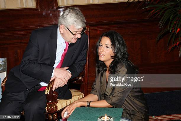 Minu Barati-Fischer With Husband Joschka Fischer at Finale Of Time Magazine Good cooking competition from Austria at the Ritz Carlton in Berlin