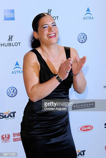 Minu Sandra Speichert attends 'Movie meets Media' Party at Hotel Ritz Carlton on February 10 2012 in Berlin Germany