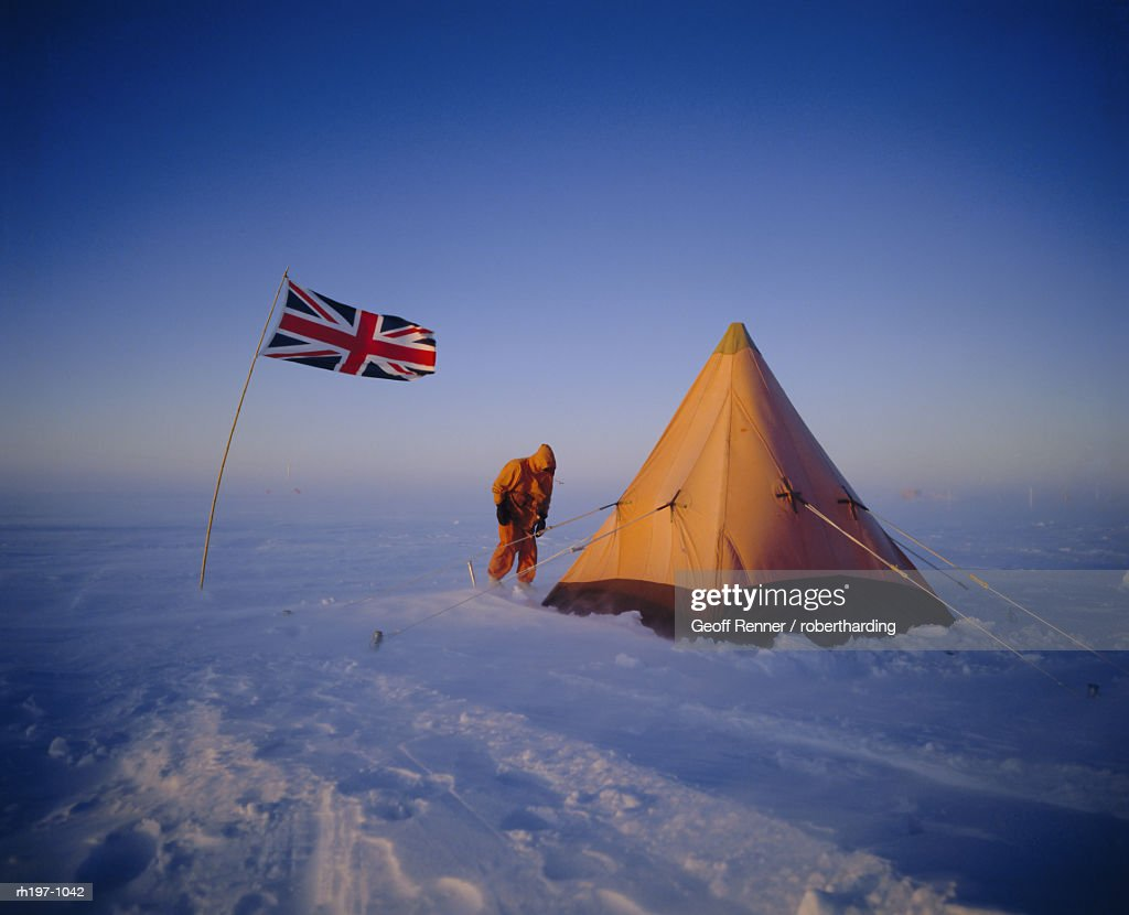 Minus 35 degrees and blowing, Antarctica : Stock Photo