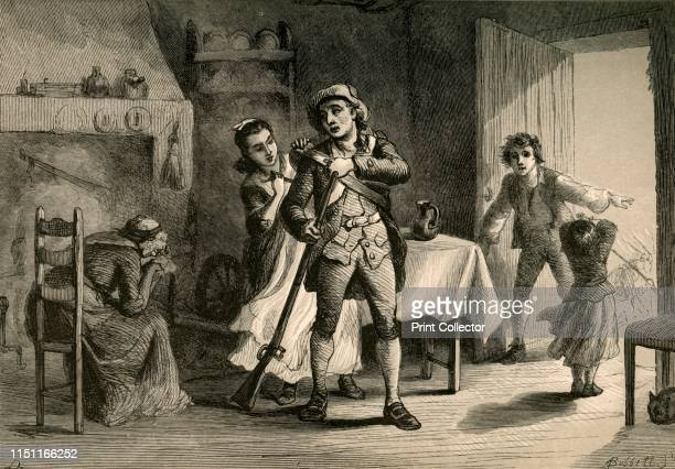 A Minute Man Preparing for War' A minuteman goes off to fight in the American War of Independence as his distraught mother weeps The civilian...