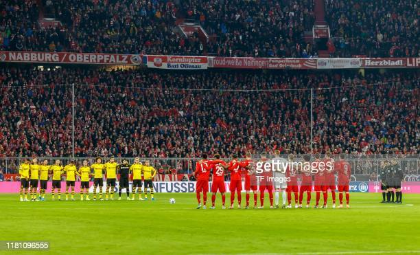 Minute of silence for Robert Enke prior to the Bundesliga match between FC Bayern Muenchen and Borussia Dortmund at Allianz Arena on November 9, 2019...
