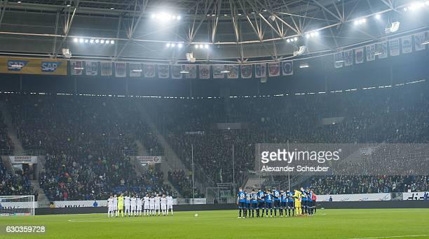Minute of silence for the victims of Berlin prior to the Bundesliga match between TSG 1899 Hoffenheim and Werder Bremen at Wirsol Rhein-Neckar-Arena...