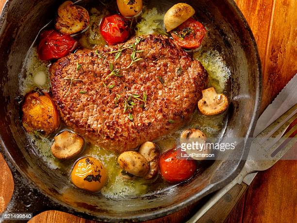 Minute Steak with Tomatoes and Mushrooms