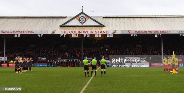A minutes applause is observed in honour of Partick Thistle majority shareholder Colin Weir who recently passed away ahead of the Ladbrokes...