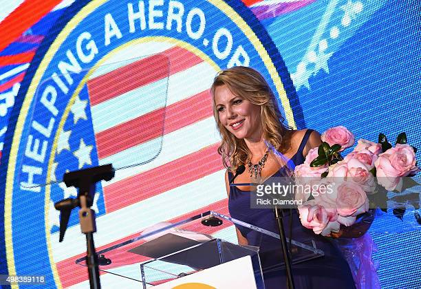 Minutes Correspondent and Mistress of Ceremonies Lara Logan hosts the 2015 Helping A Hero Gala on November 22 2015 in Houston Texas