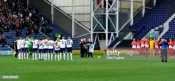 Minutes silence is observed prior to kick off in tribute to the late Sir Tom Finney during the Sky Bet League One match between Preston North End and...