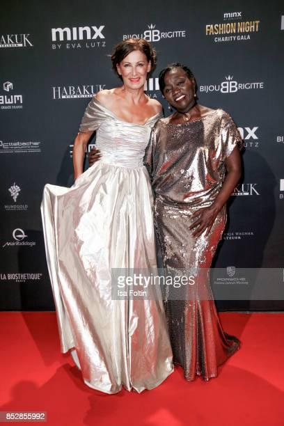 Minx Designer Eva Lutz and Auma Obama halfsister of former US president Barack Obama during the Minx Fashion Night in favour of 'Sauti Kuu' of Auma...