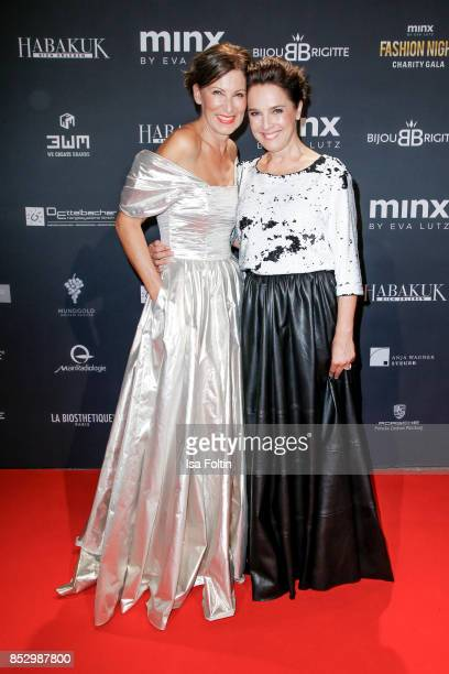Minx Designer Eva Lutz and Luxembourgian presenter Desiree Nosbusch during the Minx Fashion Night in favour of 'Sauti Kuu' of Auma Obama at...